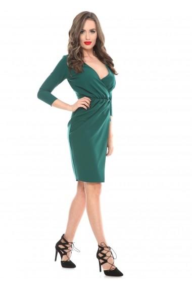 Rochie verde Roserry petrecuta din stofa eleganta -  CRM_1RSY334
