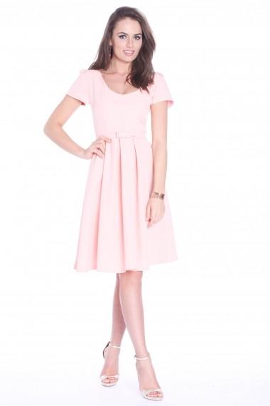 Rochie roz Roserry clos din stofa eleganta