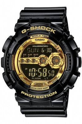 Ceas Casio G-Shock GD-100GB-1E negru, rezistent la soc