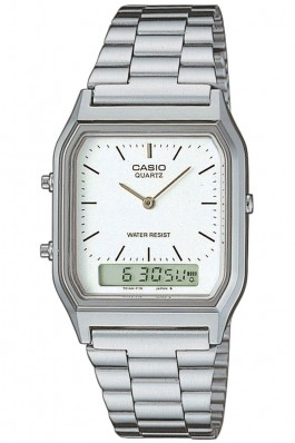 Ceas Casio Classic AQ-230A-7D argintiu, cu display Dual-time