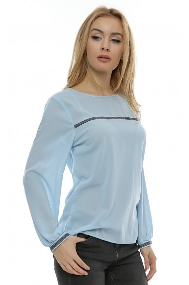 Bluza lejera cu aplicatie Multicolora b97
