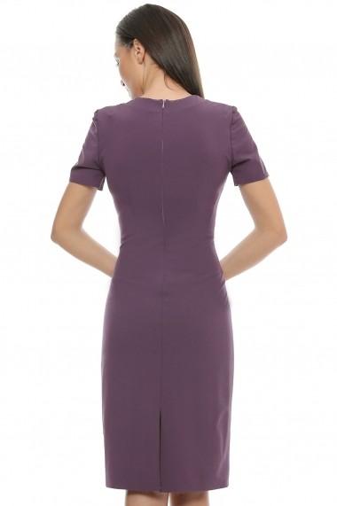 Rochie marca Crisstalus violet cu aplicatii multicolore