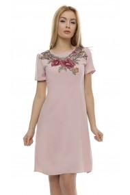 Rochie de zi Crisstalus ro165 roz
