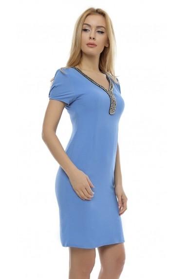 Rochie de zi Crisstalus ro168 bleu