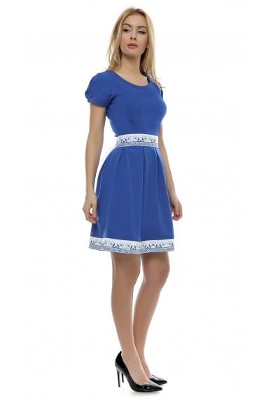 Rochie scurta Crisstalus ro178 albastra