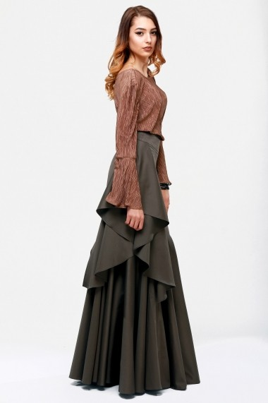 Fusta lunga de eveniment Quinn Notte - Cardinale Rosa olive