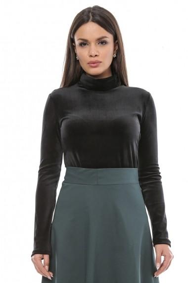 pantofi cei mai buni priză vânzare ieftină din Marea Britanie Bluza tip maleta din catifea Velvet Touch - Details negru - FashionUP!