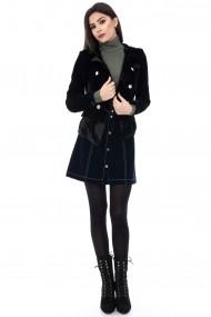 Sacou Roh Boutique negru din velvet - JR295 negru