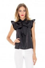 Bluza Roh Boutique de satin - BR765 negru