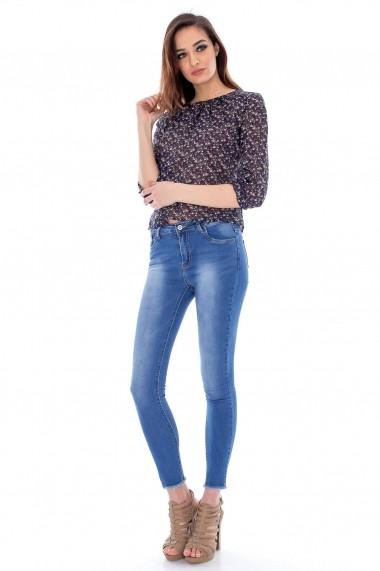 Bluza Roh Boutique din vascoza - BR939 Bleumarin