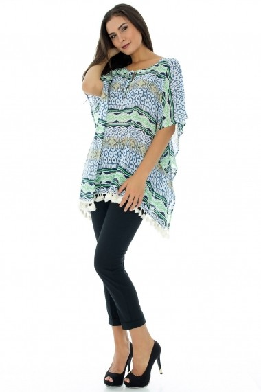 Bluza Roh Boutique stil fluture - BR794 Albastra