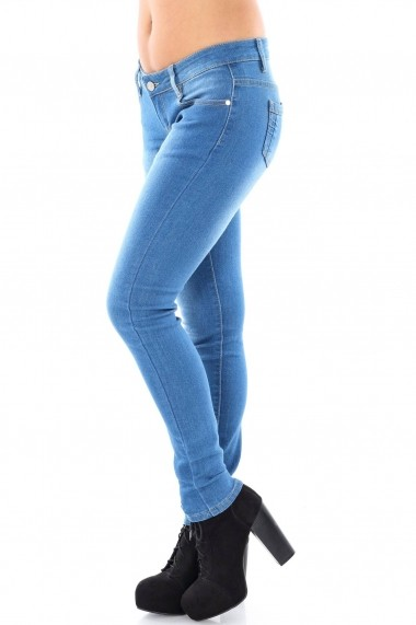 Jeansi slim Roh Boutique TR136 Albastru