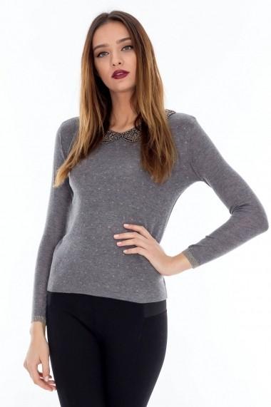 Bluza Roh Boutique tricotata - BR608 Gri