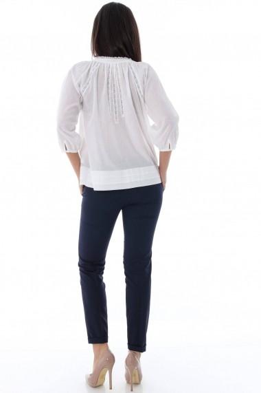Bluza Roh Boutique alba casual - BR1236 alb