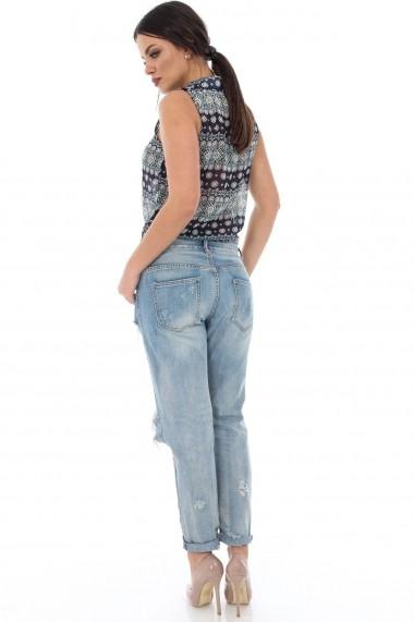 Camasa Roh Boutique bleumarin cu crem de vara - BR1279 bleumarin|crem One Size