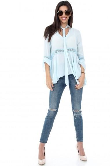 Bluza Roh Boutique albastru deschis de vara - BR1305 albastru deschis One Size