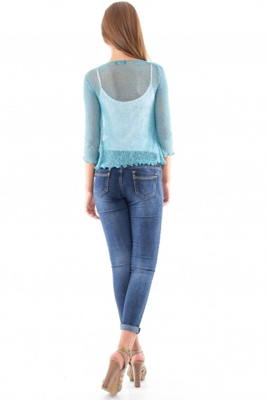 Bolero Roh Boutique handmade - BR1097 teal One Size