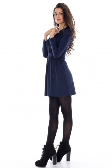 Rochie Roh Boutique de zi cu dantela DR2183 bleumarin