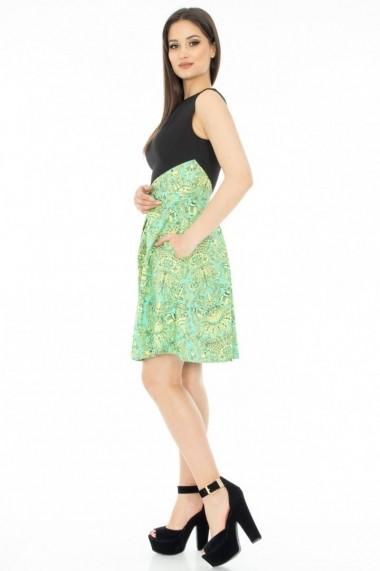 ROCHIE Roh Boutique IMPRIMATA - DR1890 negru|verde