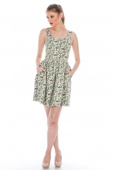 Rochie Roh Boutique din jaquard - DR2279 crem