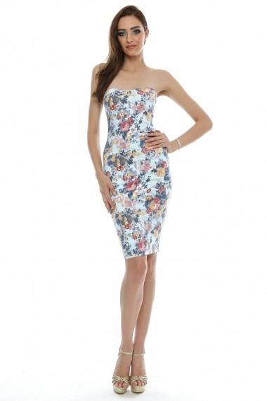 Rochie Roh Boutique florala, bodycon - DR2490 multicolora ROH-4365