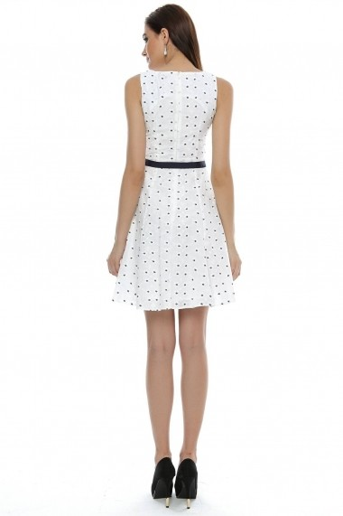 Rochie Roh Boutique din bumbac, brodata - DR2508 alba