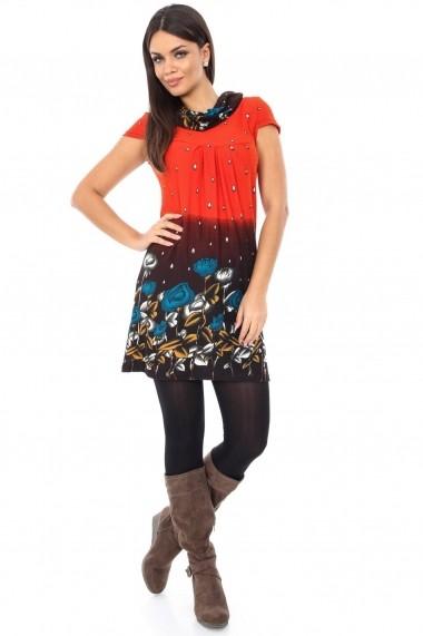 Tunica Roh Boutique cu imprimeu vesel - DR2670 multicolor