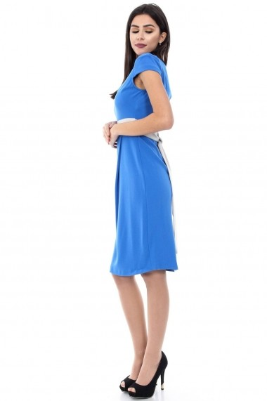 Rochie scurta Roh Boutique office, bodycon - DR1844 turcoaz