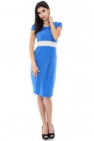 Rochie de zi Roh Boutique office, bodycon - DR1844 turcoaz