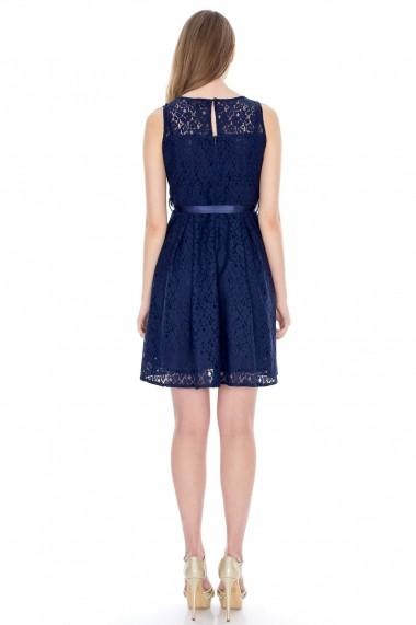Rochie Roh Boutique din dantela DR2368 bleumarin