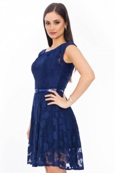 Rochie Roh Boutique din dantela DR1730 bleumarin
