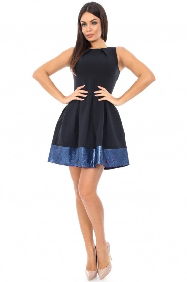Rochie de seara Roh Boutique cu paiete - DR2562-N neagra