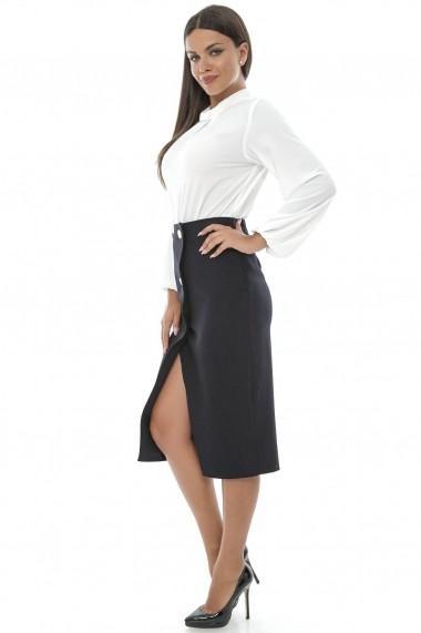 Fusta dreapta Roh Boutique eleganta - FR279 negru
