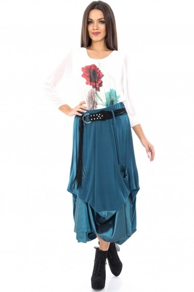 Fusta lunga Roh Boutique teal - FR297 teal One Size