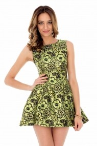 Rochie de seara Roh Boutique - DR1514 negru|verde