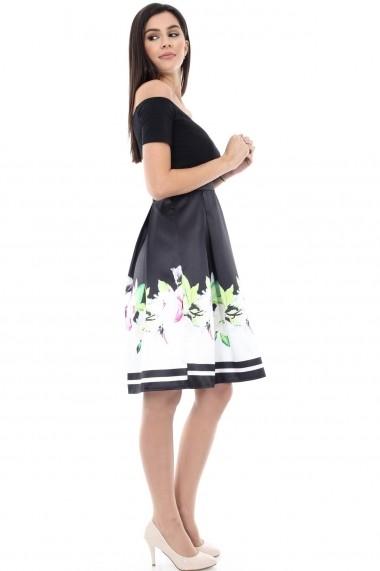 Rochie midi Roh Boutique DR2765 florala