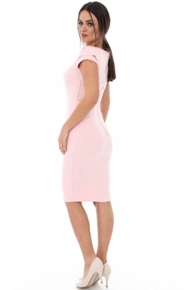 Rochie office Roh Boutique bodycon DR2784 roz