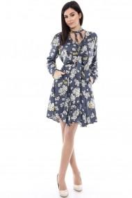 Rochie de zi Roh Boutique imprimata floral - CLD327 gri|galben