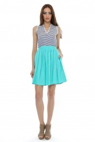 Fusta lunga  Roh Boutique mini - FR262 teal