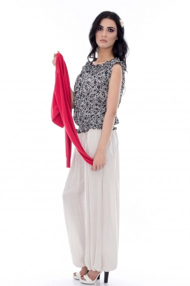 Pantalon Roh Boutique din bumbac - TR115 bej