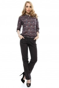 Pantalon Roh Boutique casual din in - TR133 bleumarin