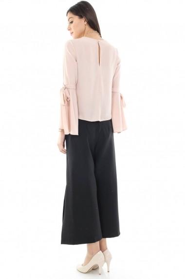 Pantaloni largi Roh Boutique negru - TR171 negru