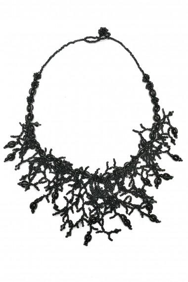 Colier pentru femei BORRO design negru BR1164BL