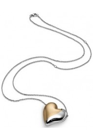 BREIL JEWELS HEARTBREAKER Collection Collana in acciaio con pendente grande. interno in alluminio champagne /S/Steel necklace with big pendant aluminun champagne