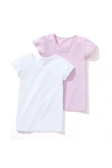 Set 2 tricouri fete LES PETITS PRIX LRD-7686536 alb - els