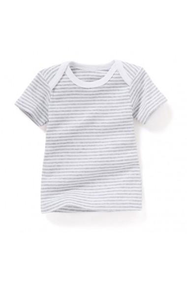 Set 3 tricouri R essentiel 6463630 Alb, gri, gri