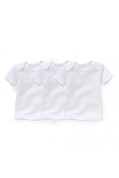 Set 3 tricouri R essentiel 6464190 Alb, alb, alb