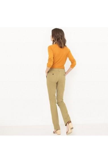 Pantaloni drepti R essentiel 5779448 Kaki - els