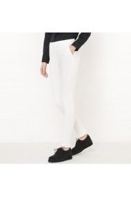 Pantaloni drepti R essentiel 5982740 Alb - els