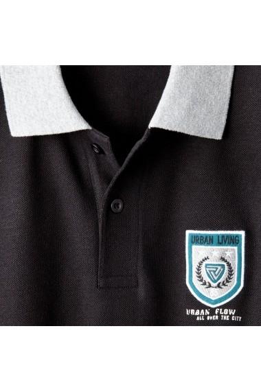 Tricou polo CASTALUNA FOR MEN 6177590 Negru - els